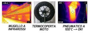 Misura Temperatura pneumatico moto OK Termocamera infrarossi Mugello