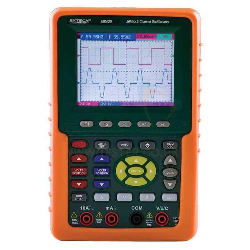 Oscilloscopio portatile Extech MS420 Geass