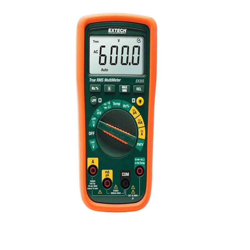 Multimetro EX355 Extech con sonda di temperatura a filo