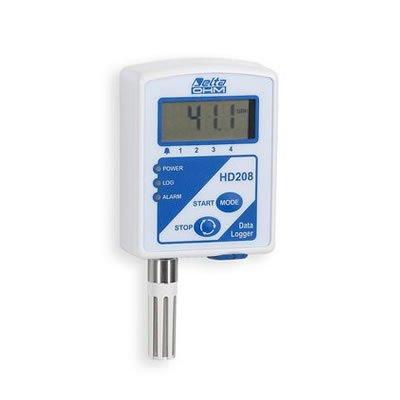 Minidatalogger di temperatura DeltaOhm HD208N LCd
