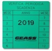 Etichetta Geass Verifica Periodica