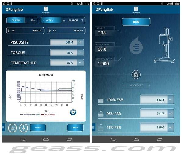 Tablet Viscosimetro rotazionale fungilab V-PAD