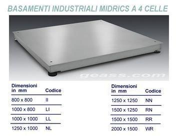 Basamenti industriali Sartorius Midrics 4_celle