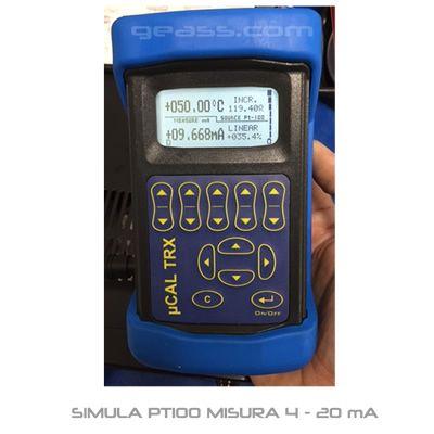 Calibratore TRX simula termoresistenze PT100 misura trasmettitore 4-20 mA geass