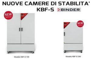 nuove camere stabilita Binder KBF-S240 KBF-S720 conformi ICH Q1A