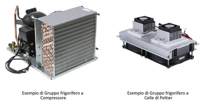 Esempio Gruppo frigorifero e Celle di Peltier Camere Climatiche